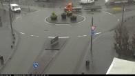 Blick auf den Hahnplatz in Prüm mit der Basilika und der Abtei
