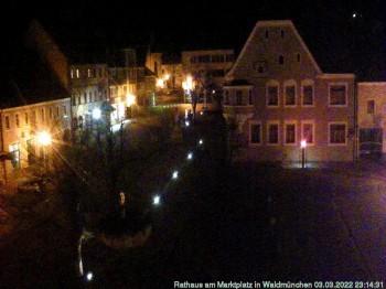 Blick auf den Marktplatz in Waldmünchen