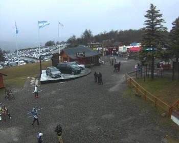 Blick auf den Parkplatz im Skigebiet Chapelco