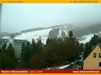 Blick auf die Fichtelbergschanzen - Skisprungschanzen in Oberwiesenthal