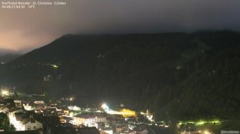 Blick auf die Saslong Weltcup-Abfahrt