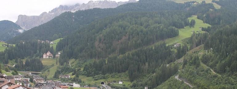 Gröden: Blick auf die Saslong Weltcup-Abfahrt
