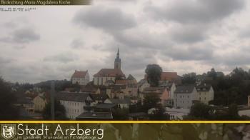 Blick auf die Stadt Arzberg