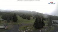 Blick auf die Talstation des Mont Sainte Anne
