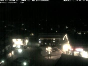 Blick auf Rathausplatz Reit im Winkl