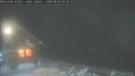 "Ohau Snowfields Blick auf Skihütte ""Cafe"""