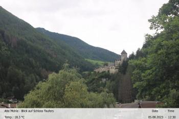 Blick Richtung Schloss Taufers, Südtirol