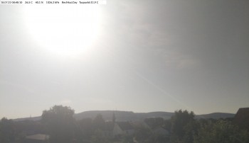 Blick über Aalen-Onatsfeld, Schwäbische Alb