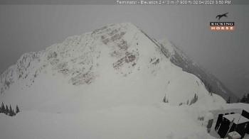 Blick vom Terminator Peak im Skigebiet Kicking Horse