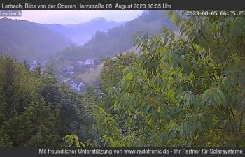 Blick von der oberen Harzstraße in Lerbach
