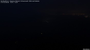 Buchkopfturm Schwarzwald - Blick nach Westen