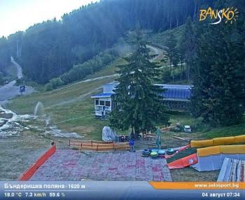 Bansko: Blick ins Skigebiet und auf den Weltcuphang