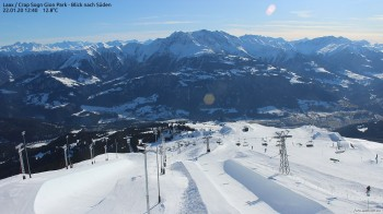 Laax: Blick auf Snow Park am Crap Sogn Gion