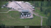 Fassatal - San Pelegrino - panorama view of the ski-piste and liftmachinery of the