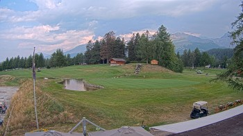 Golfplatz Crans Montana - Loch 18