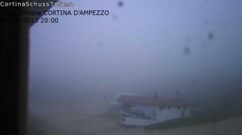 Cortina d'Ampezzo: World Cup slope from Rifugio Duca d'Aosta