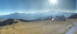 Panoramablick von Combloux Megeve St Gervais
