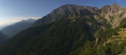 Panoramic view: Checrouit and Courmayeur