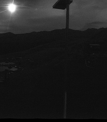 Panoramic view from mountain hut Plantapatsch in Watles (Vinschgau Valley)