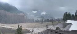 Panoramic view Tiers at mountain range Rosengarten