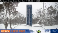 Perisher: Neuschnee Webcam mit Snow Stake