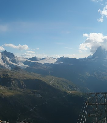 Rothorn Zermatt mit Monte Rosa Massiv