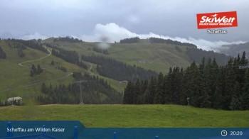 Scheffau at mountain range Wilder Kaiser