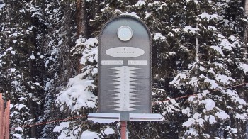Telluride: Schneehöhe nahe des Gold Hill Express