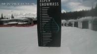 Schneepegel in Aspen Snowmass, Colorado
