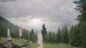 Venet: Skihütte Zams mit Blick nach Westen