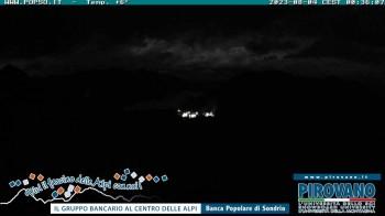 Stilfserjoch: Blick vom Trincerone ins Tal