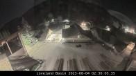 Talbereich im Skigebiet Loveland