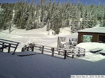 Talstation im Skigebiet Showdown Montana