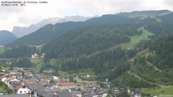 View at the Sellagroup and the Saslong worldcup slope