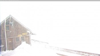 "Ohau Snowfields - View of ski lodge ""Cafe"""