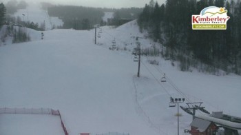 View of the base including the Northstar Express Quad and magic carpet and beginner area