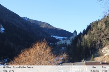 View towards castle Taufers in South Tyrol