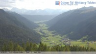 View towards village St. Magdalen in Valley Gsieser, South Tyrol