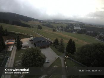 Webcam auf den Haupthang des Skigebiets Oberwiesenthal Fichtelberg