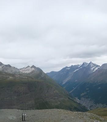 Zermatt Hörnlibahn Bergstation - Blick zum Matterhorn