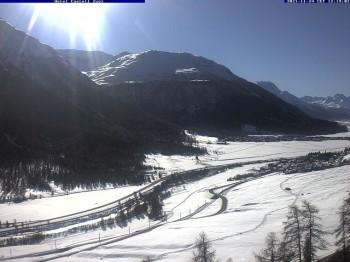 Zuoz I - Ausblick Hotel Castell Richtung Skigebiet Zuoz